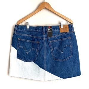 Levi's Deconstructed Mini Denim Skirt